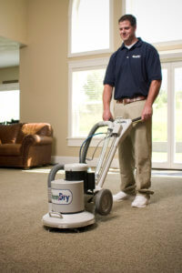 chem dry tech using carbonated carpet cleaning